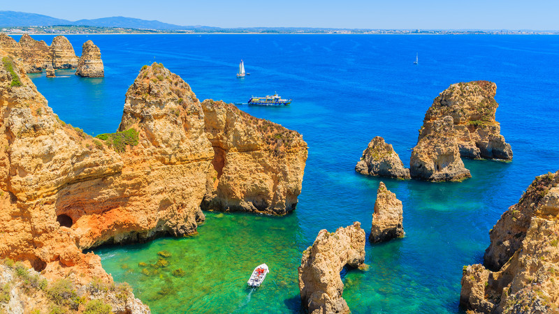 Intrepid Travel-portugal_algave_ponta-da-piedade_boats-rocks-sea