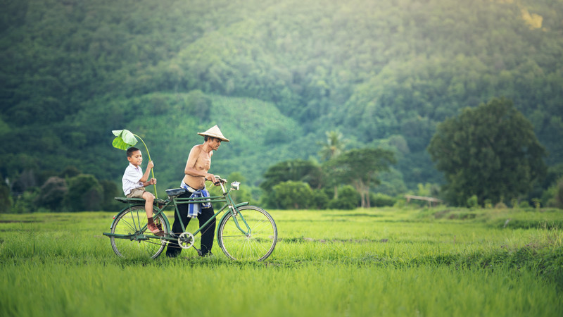 Intrepid Travel-vietnam_bike-father-son
