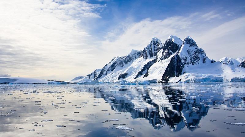 Antarktis-Berge-Eis