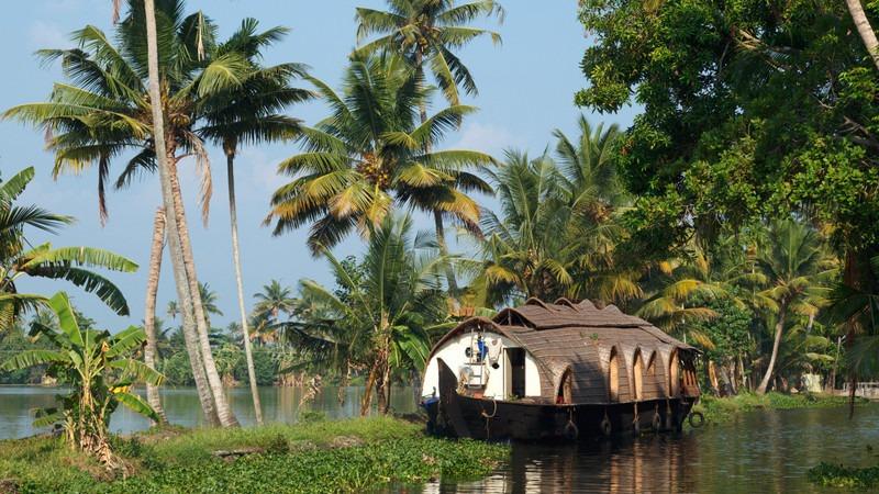 Asien-Indien-Kerala-Hausboot