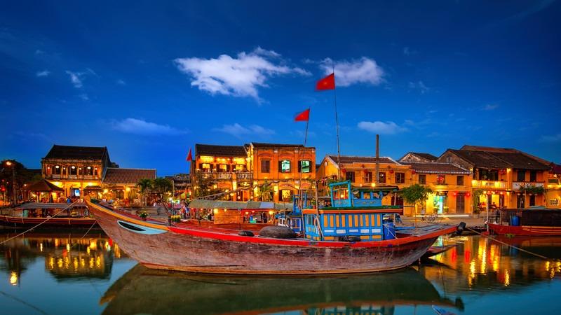 Südostasien-Vietnam-Hoi-An-Altstadt-Boot