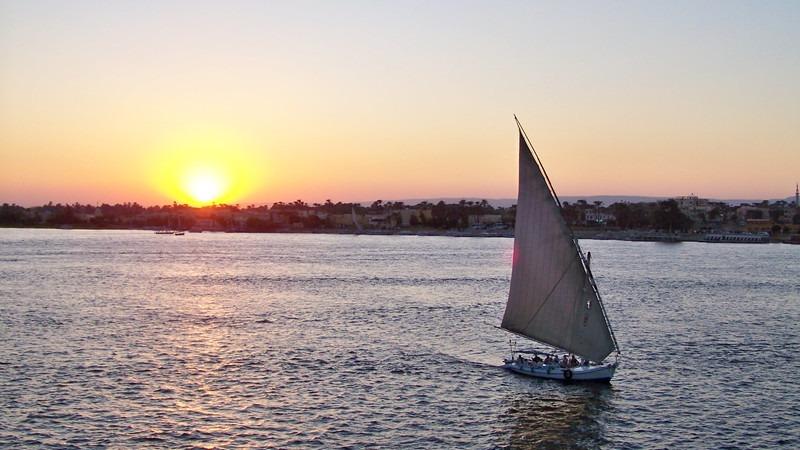 Nordafrika-Ägypten-Nil-Feluke