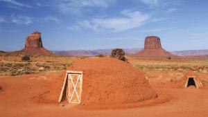 USA-Navajo-Hütten