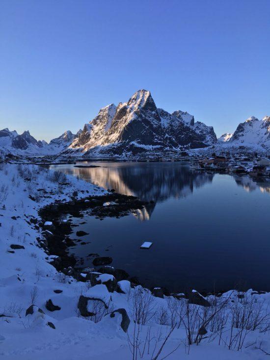 Lofoten Norwegen Berg