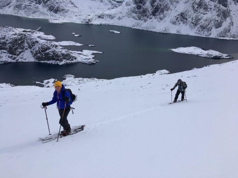 Lofoten Norwegen Langlaufen