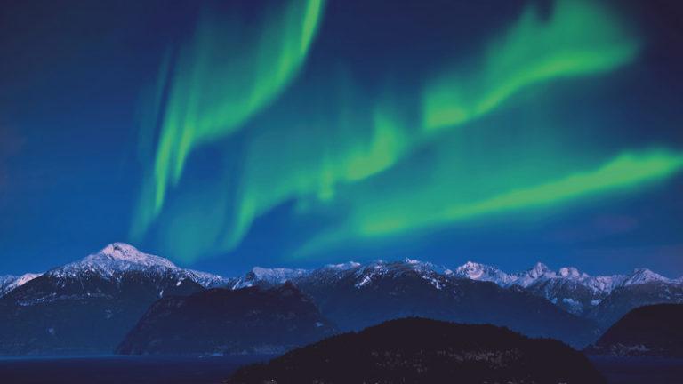 Lofoten Norwegen Nordlichter